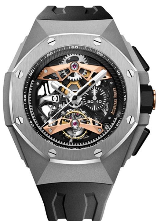 Audemars Piguet ROYAL OAK CONCEPT SELFWINDING TOURBILLON CHRONOGRAPH OPENWORKED 26612TI.OO.D002CA.01 Replica Watch