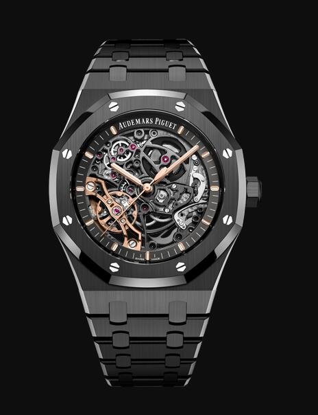Audemars Piguet Royal Oak 41 Double Balance Wheel Openworked Black Ceramic 15416CE.OO.1225CE.01 Replica Watch