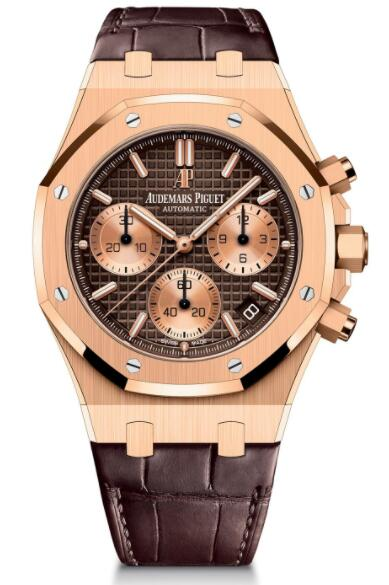 Audemars Piguet Replica Watch Royal Oak Chronograph 41 Pink Gold 26239OR.00.D812CR.01