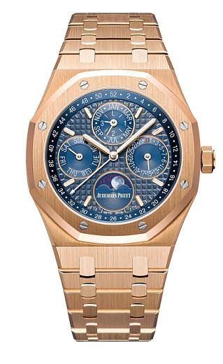 Audemars Piguet Replica Watch Royal Oak Perpetual Calendar Rose Gold 26574OR.OO.1220OR.02