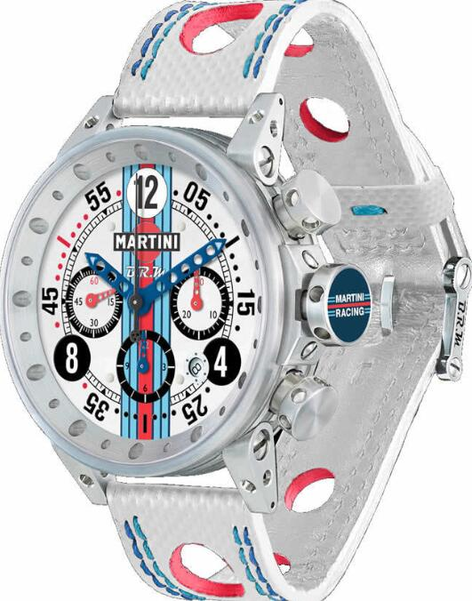 BRM Gulf JAGUAR V-12 Martini Racing White Dial V12-44-MR-01 Replica Watch