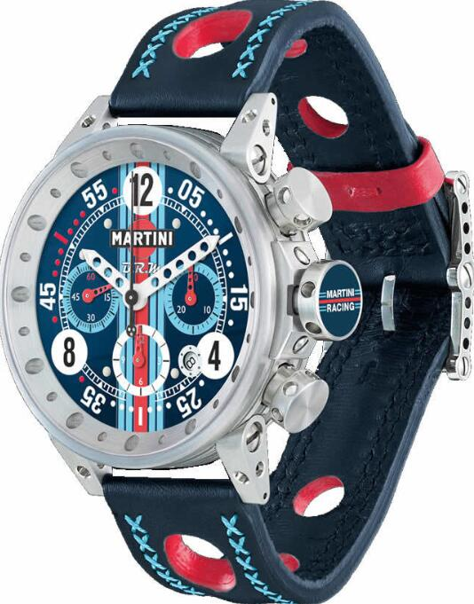 BRM Gulf JAGUAR V-12 Martini Racing Navy Dial V12-44-MR-02 Replica Watch
