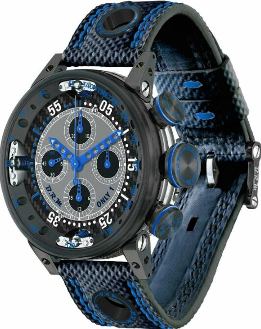 BRM Chronograph Quantieme Perpetual Black Blue V12SA-46-DTQ-BLM Replica Watch
