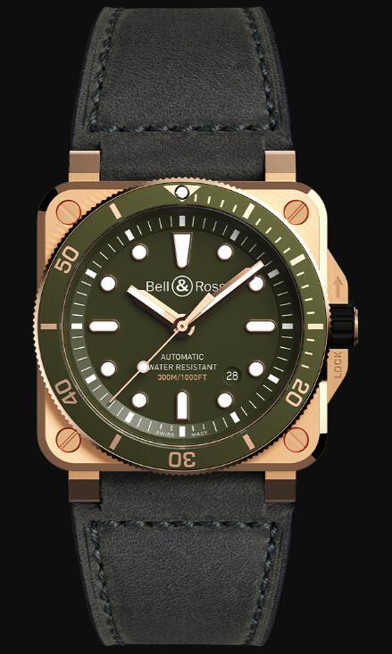 Bell & Ross BR 03-92 DIVER GREEN BRONZE BR0392-D-G-BR/SCA Replica Watch