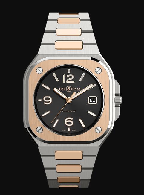 Bell & Ross BR 05 BLACK STEEL & GOLD BR05A-BL-STPG/SSG Replica Watch