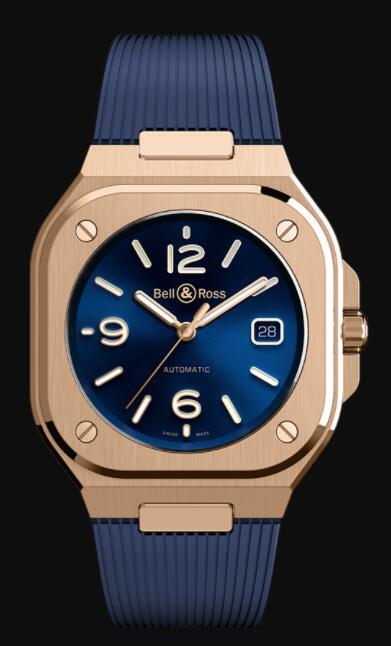 Bell & Ross BR 05 BLUE GOLD BR05A-BLU-PG/SRB Replica Watch