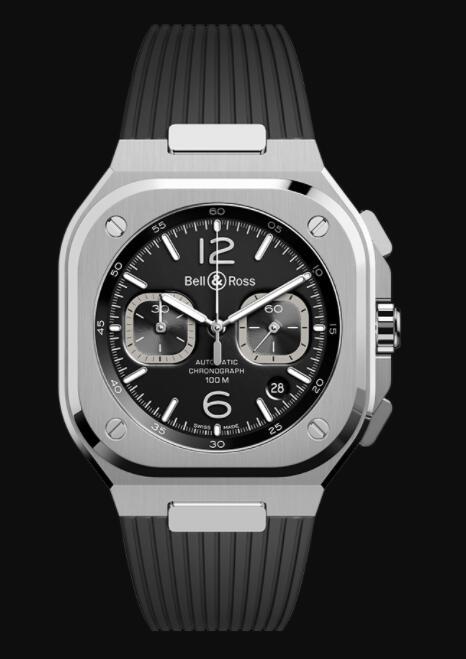 Bell & Ross BR 05 CHRONO BLACK STEEL BR05C-BL-ST/SRB Replica Watch