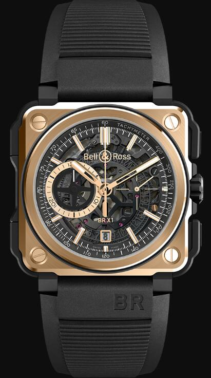 Bell & Ross BR-X1 ROSE GOLD & CERAMIC BRX1-CE-PG Replica Watch