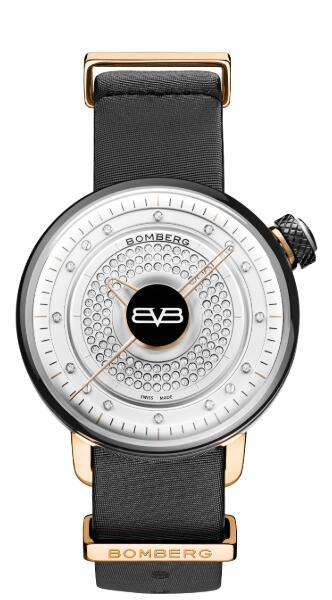 Bomberg BB-01 LADY SKYLIGHTER WHITE & BLACK CT38H3SS.10-1.9 Replica Watch