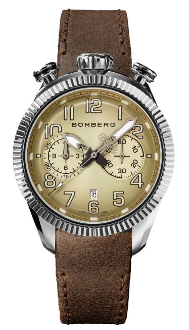 Bomberg BB-68 IVORY & BROWN NS44CHSS.201.9 Replica Watch
