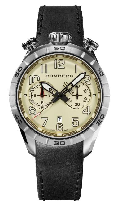 Bomberg BB-68 IVORY & BLACK NS44CHSS.205.9 Replica Watch