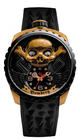Bomberg Replica Watch BOLT-68 SKULL RIDER GOLD & BLACK BS47APBA.056-2.3