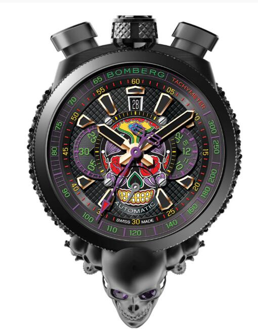 Bomberg BOLT-68 SKULL Automatic Chronograph Limited Edition Replica Watch