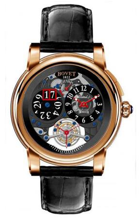 Bovet Dimier Recital 5 Tourbillon Big Date R5 TBD RG Replica watch