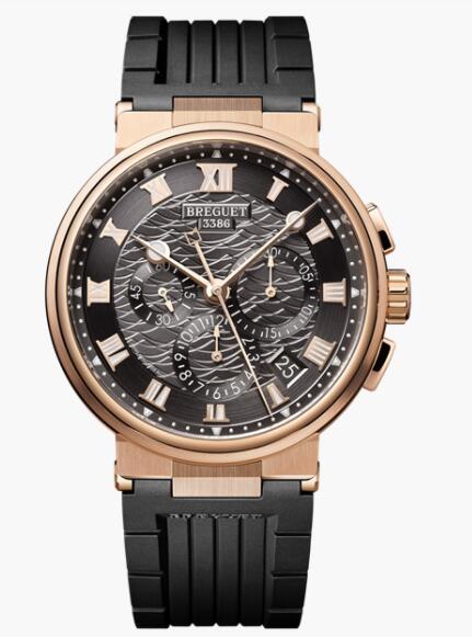 Breguet Marine Chronograph 5527 Rose Gold Grey 5527BR/G3/5WV Replica Watch