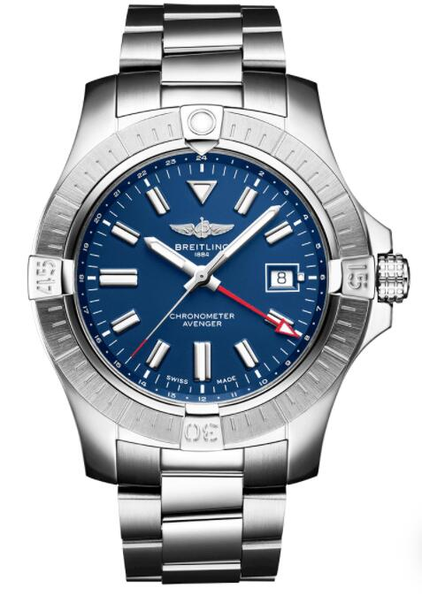 Best Breitling Avenger GMT 45mm Blue Dial Automatic A32395101C1 Replica Watch