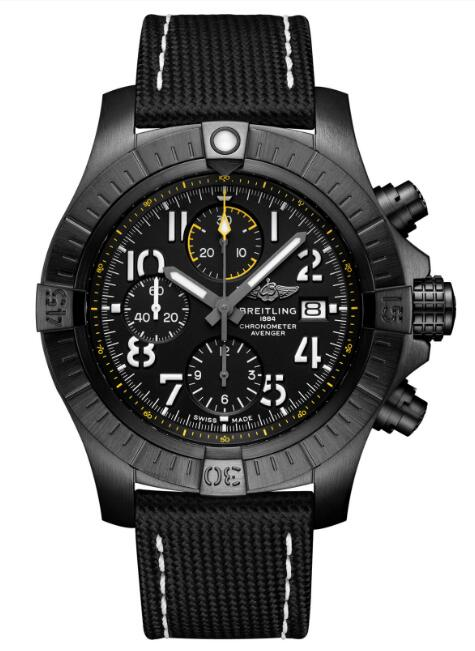 Breitling Avenger Chronograph 45 Night Mission V13317101B1X1 Watch Replica