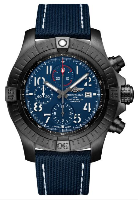 Breitling Super Avenger Chronograph 48 Night Mission V13375101C1X1 Watch Replica