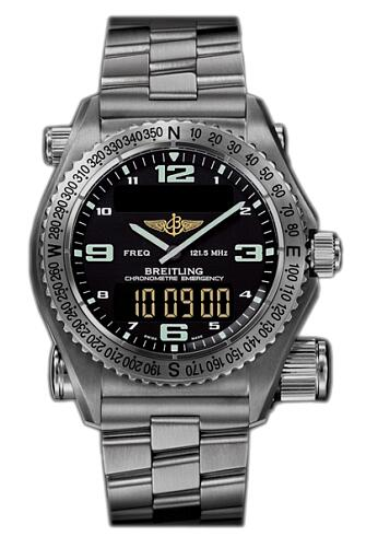 Replica Watch Breitling Emergency II E7621C0 Black-Ti
