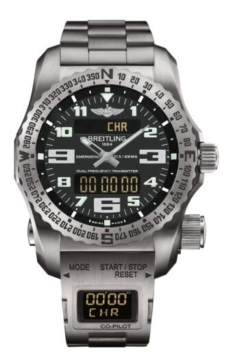 Replica Watch Breitling Emergency II Black Co-Pilot E7632522.BC02.E8017510.B999.165E