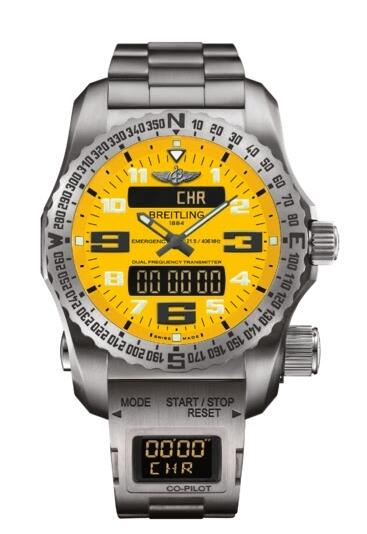 Replica Watch Breitling Emergency II Yellow Co-Pilot E76325A4.I520.E8017510.B999.165E