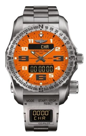 Replica Watch Breitling Emergency II Orange Co-Pilot E76325A5.O508.E8017510.B999.165E
