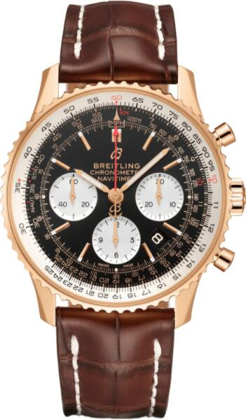 Best Breitling Navitimer 1 B01 Chronograph 43 Red Gold RB0121211B1P2 Replica Watch
