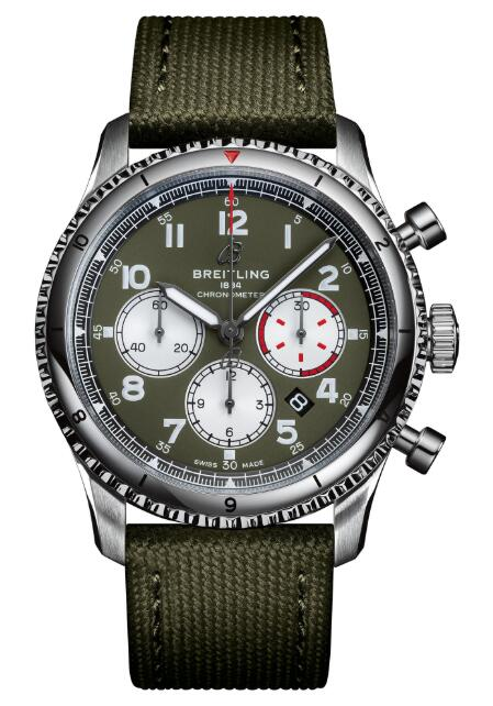 Replica Watch Breitling AB0119 Navitimer Aviator 8 B01 Chronograph 43 Curtiss Warhawk