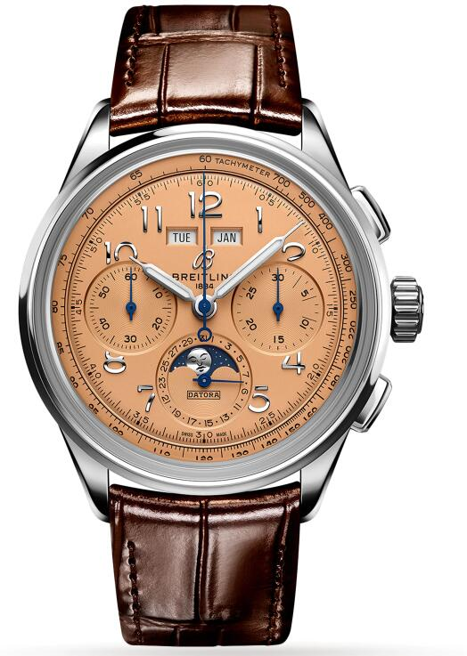 Best Breitling Premier Heritage B25 Datora 42 Stainless Steel Copper AB2510201K1P1 Replica Watch