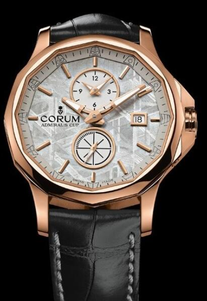 Corum Admirals Cup Legend 42 Meteorite Dual Time Replica watch A283/02034 - 283.101.55/0001 PX34