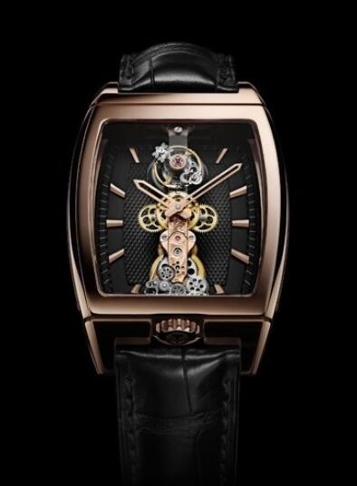 Corum Golden Bridge Tourbillon avec pont saphir Replica watch 213.150.55/0002 GK12
