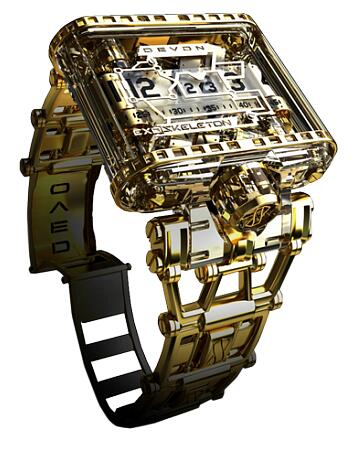 Devon Exoskeleton Gold Replica Watch