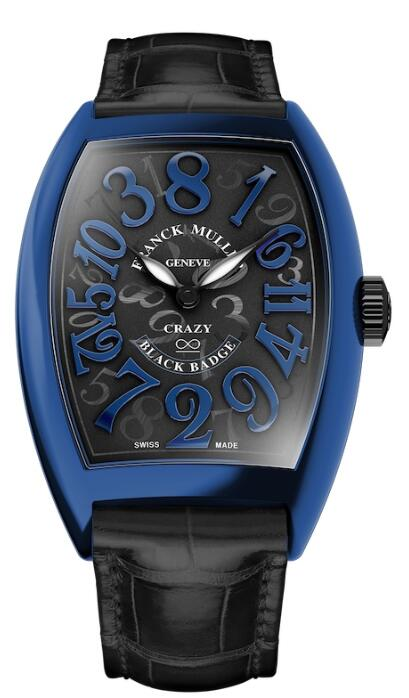 FRANCK MULLER Crazy Hours Black Badge 8880 CH BLACK BADGE Black Strap Replica Watch