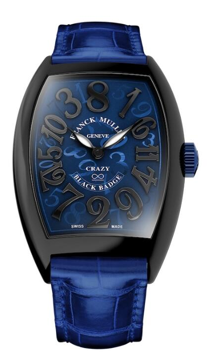 FRANCK MULLER Crazy Hours Black Badge 8880 CH BLACK BADGE Blue Strap Replica Watch
