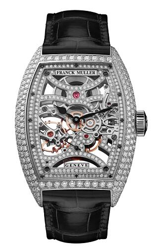 FRANCK MULLER 7 Days Power Reserve Skeleton 8880 B S6 SQT D MVT D OG Replica Watch