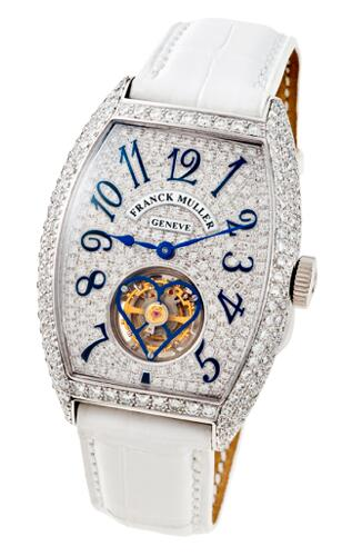 FRANCK MULLER Cintree Curvex Tourbillon 3080 T D CD white gold Replica Watch