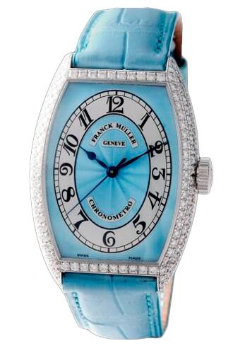 FRANCK MULLER Cintree Curvex Chronometro 5850 SC CHR MET D Blue Replica Watch