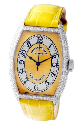 FRANCK MULLER Cintree Curvex Chronometro 5850 SC CHR MET D Yellow Replica Watch