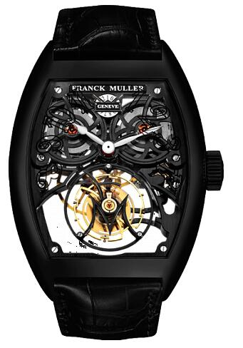 FRANCK MULLER 8889 T G SQT BR NR Cintree Curvex Giga Tourbillon Black Replica Watch