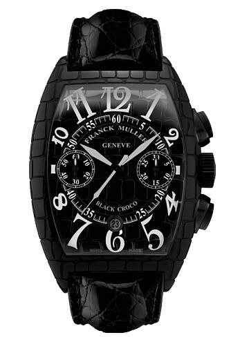 FRANCK MULLER Croco Chronograph Steel 8880 CC AT BLK CRO AC Replica Watch