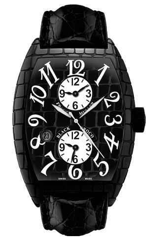 FRANCK MULLER Croco GMT Steel 8880 MB SC DT BLK CRO AC Replica Watch