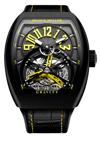 FRANCK MULLER V 45 T GR CS BR NR Y Gravity Yellow Replica Watch