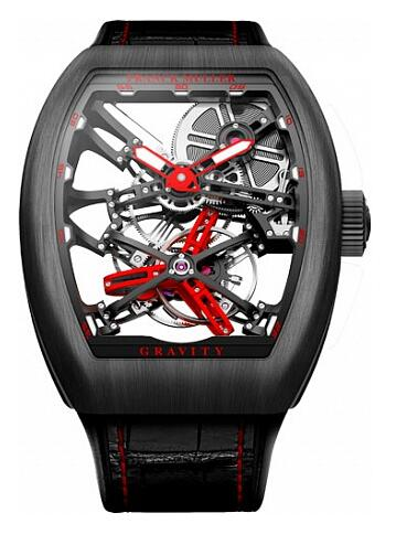 FRANCK MULLER V 45 T GRAVITY CS SQT BR Gravity Skeleton Replica Watch