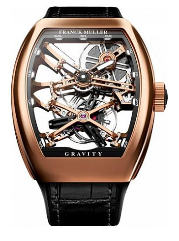 FRANCK MULLER V 45 T GRAVITY CS SQT RG Gravity Skeleton Replica Watch