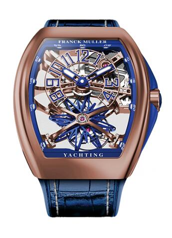 FRANCK MULLER V45 T GR YACHT SQT RG Gravity Skeleton Replica Watch