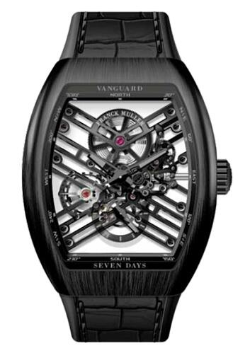 FRANCK MULLER V 45 S6 SQT BL Ti Vanguard Skeleton Titanium Replica Watch