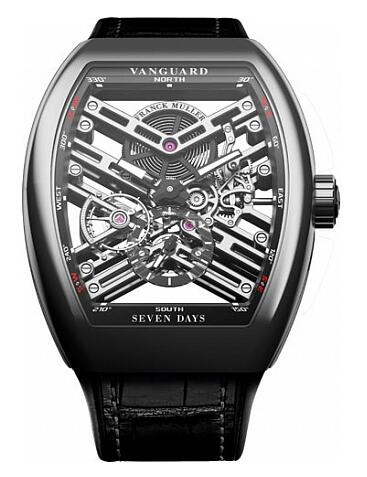 FRANCK MULLER V 45 S6 SQT Vanguard Skeleton steel Replica Watch