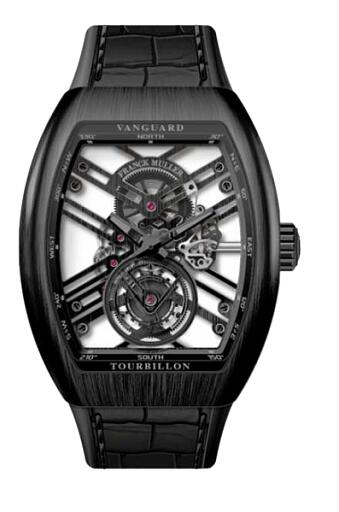 FRANCK MULLER V 45 T SQT BL Ti Vanguard Tourbillon Skeleton Replica Watch