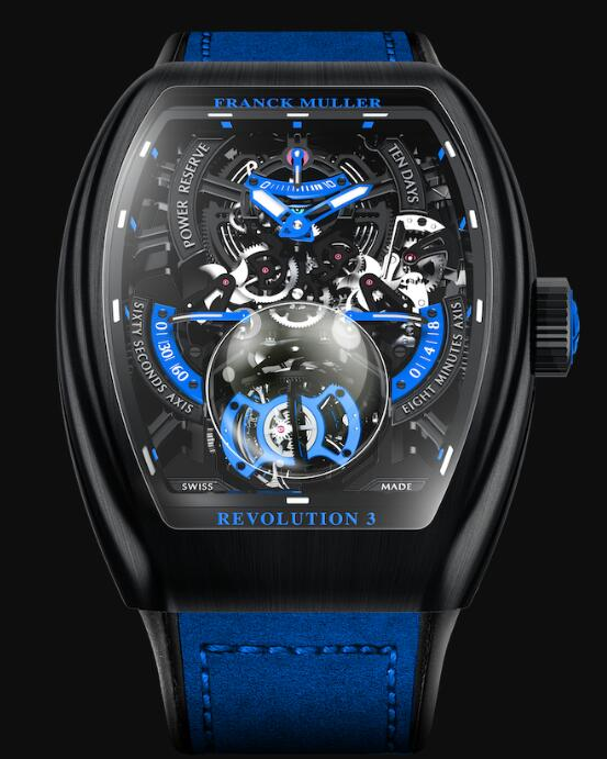 FRANCK MULLER Vanguard Revolution 3 Skeleton V 50 REV 3 SQT NR BR (BL) Replica Watch