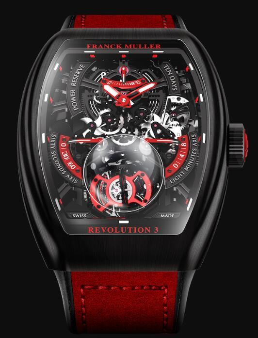 Best FRANCK MULLER Vanguard Revolution 3 Skeleton V 50 REV 3 SQT NR BR (ER) Replica Watch